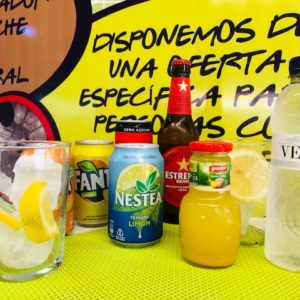 limonada, coca cola, cerveza, naranja heladeria gelatia