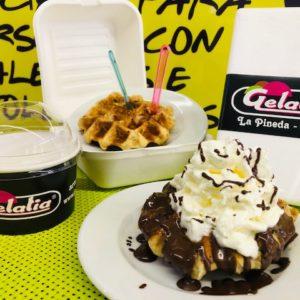 comprar gofre heladeria gelatia